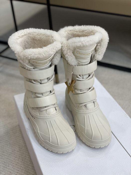 Фото Сапоги зимние из натуральной кожи с мехом - ukrfashion.com.ua