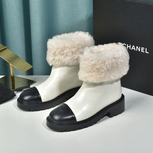 Фото Женские зимние ботинки из натуральной кожи на меху - ukrfashion.com.ua