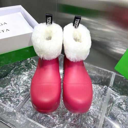 Фото Ботинки женские натуральная кожа + шерсть,  красные - ukrfashion.com.ua