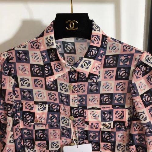 Фото Шелковая рубашка с короткими рукавами - ukrfashion.com.ua
