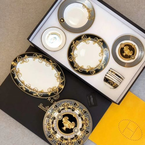 Фото Набор посуды Bone Gold Natural Dyes из 32 элементов, фарфор - ukrfashion.com.ua