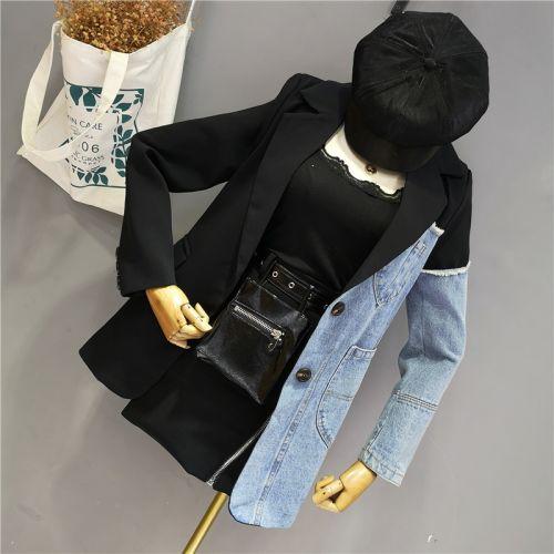 Фото Куртка джинсовая женская двухцветная - ukrfashion.com.ua