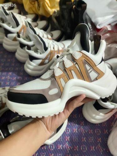 Фото Модные кроссовки бело-коричневые - ukrfashion.com.ua