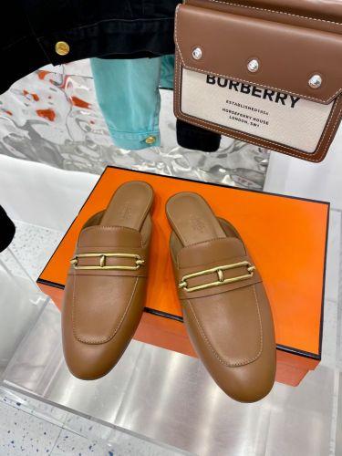 Фото Женские туфли с открытой пяткой, коричневые - ukrfashion.com.ua