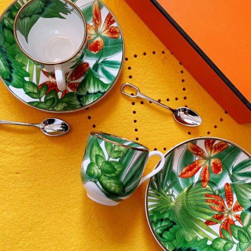Фото Набор Passifolia Tropical Rainforest Series Limoges из двух чашек с блюдцами - ukrfashion.com.ua