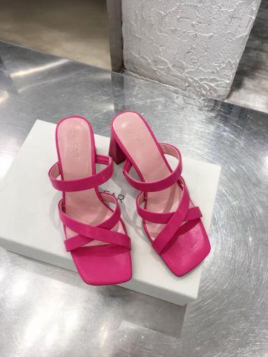 Фото Стильные босоножки на высоком каблуке, цвет розовый - ukrfashion.com.ua