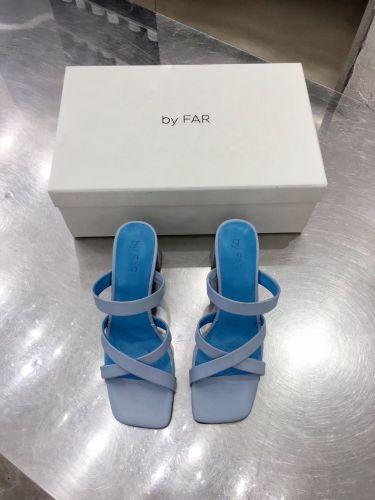 Фото Стильные босоножки на высоком каблуке, цвет голубой - ukrfashion.com.ua