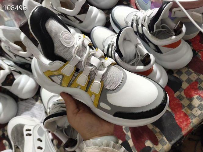 Фото Модные кроссовки желто-белые - ukrfashion.com.ua