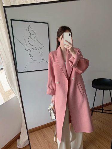 Фото Шерстяное пальто женское розовое осень-зима - ukrfashion.com.ua