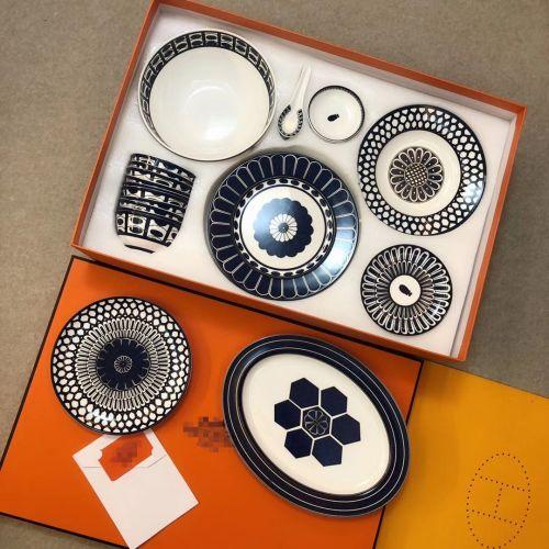 Фото Набор посуды Exotic Blue Series из 53 элементов, фарфор - ukrfashion.com.ua