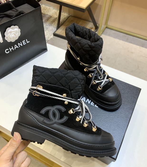 Фото Супер модные черные женские зимние ботинки, натуральная кожа - ukrfashion.com.ua
