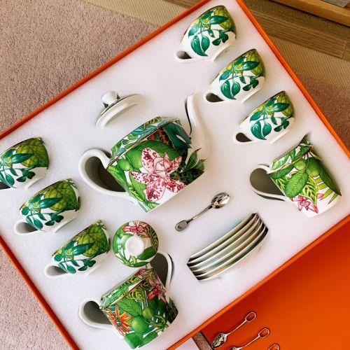 Набор Passifolia tropical rainforest series из 15 предметов посуды и 6 маленьких ложек в подарочной коробке