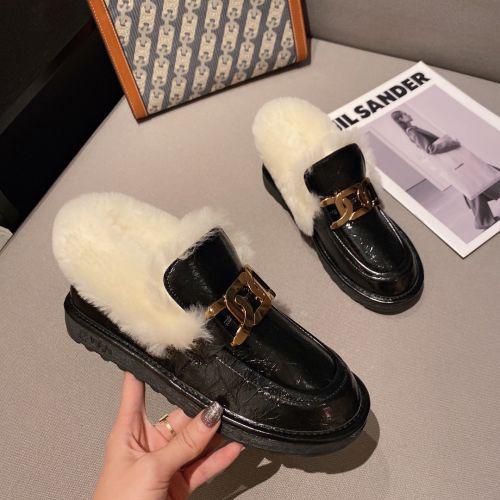 Меховые туфли