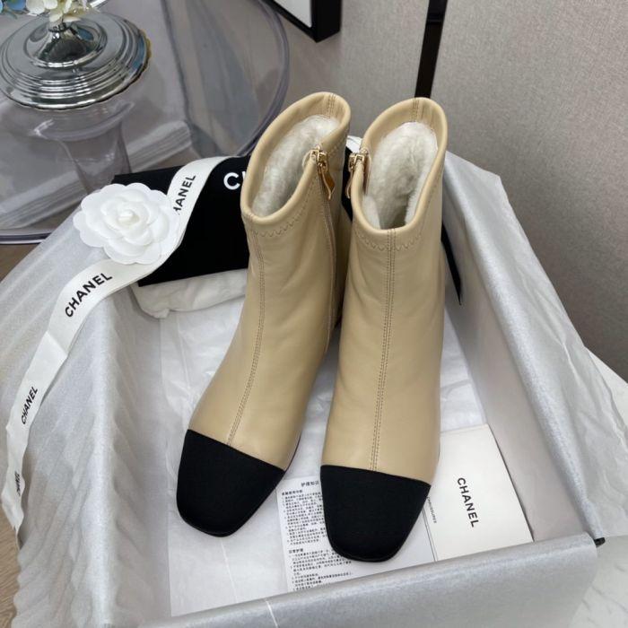 Фото Кожаные женские ботинки с натуральной шерстью - ukrfashion.com.ua