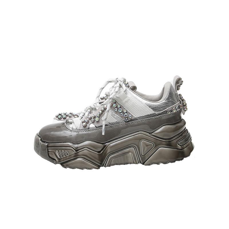 UkrFashion Стильные кроссовки женские с камнями
