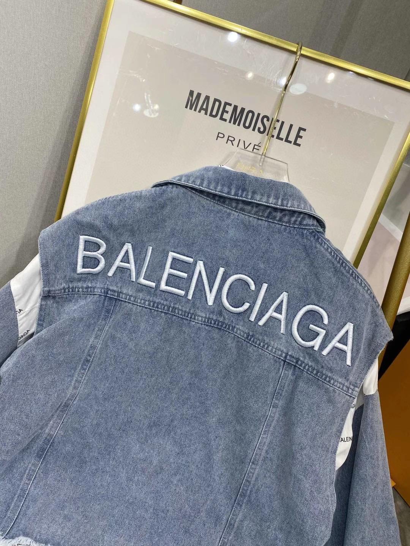 Balenciaga Джинсовая жилетка с рубашкой женская