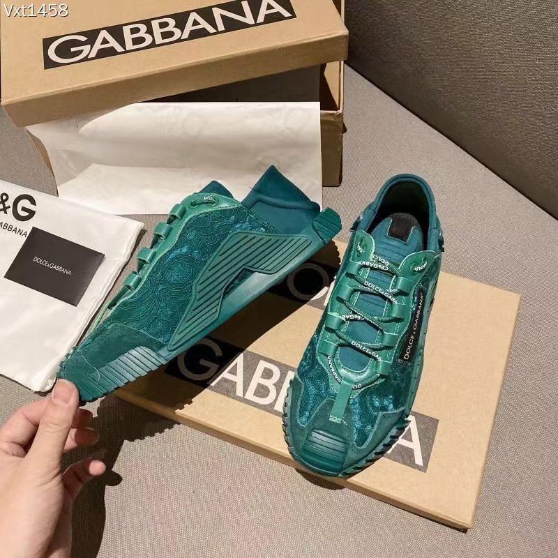 Dolce & Gabbana Кроссовки женские, цвет изумрудный