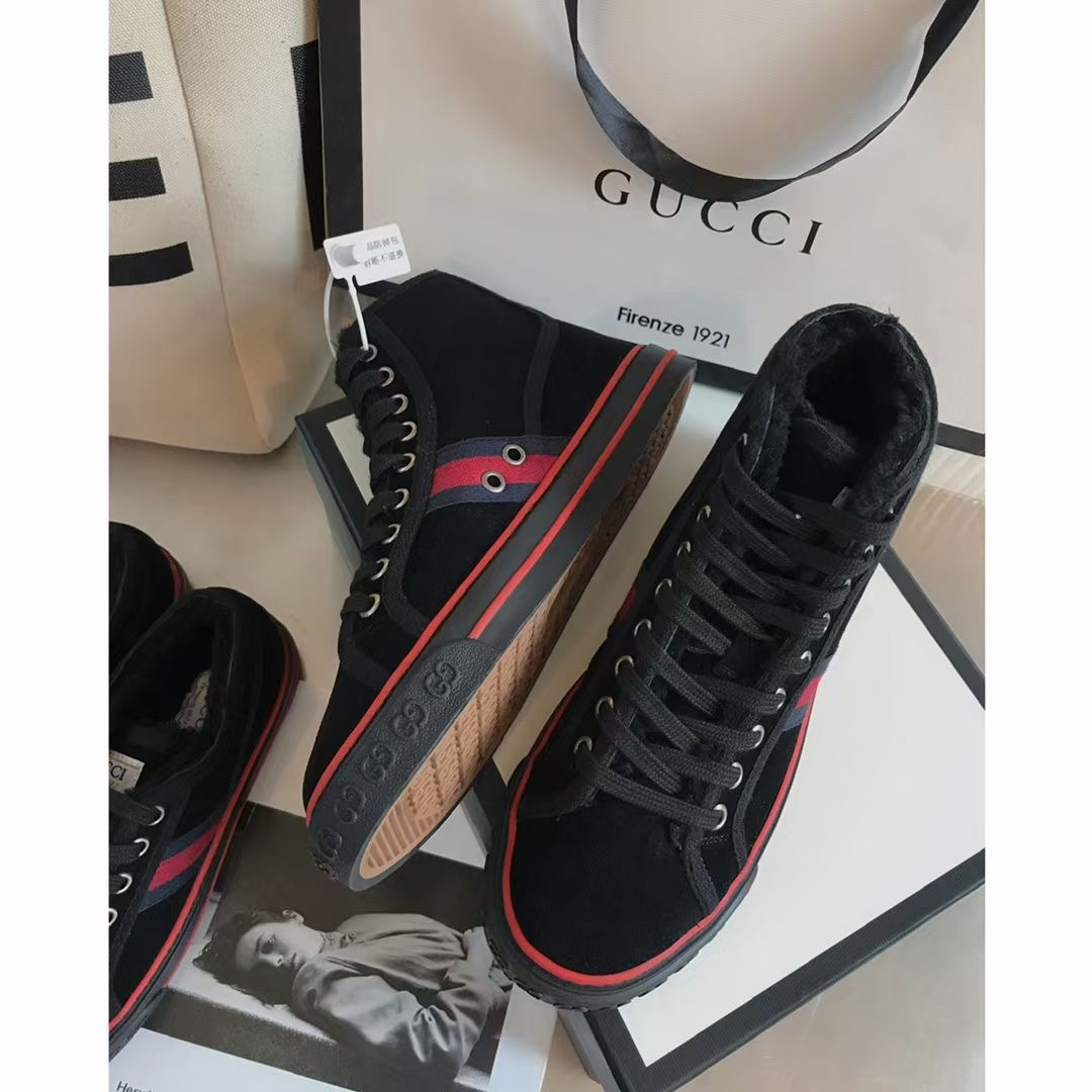 Gucci Кроссовки с мехом зимние черные