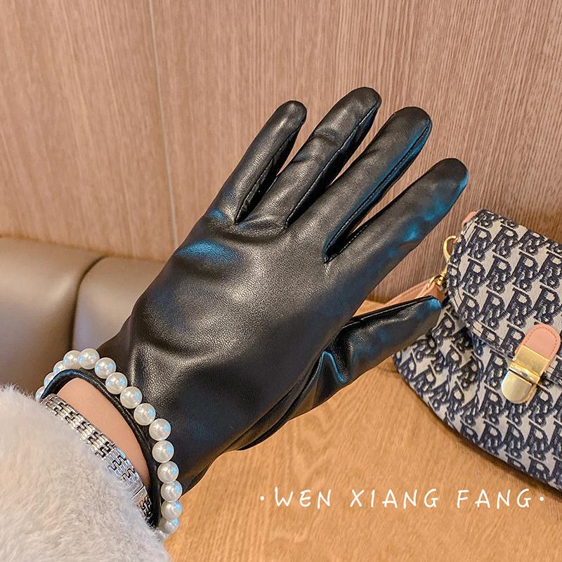 UkrFashion Кожаные перчатки женские