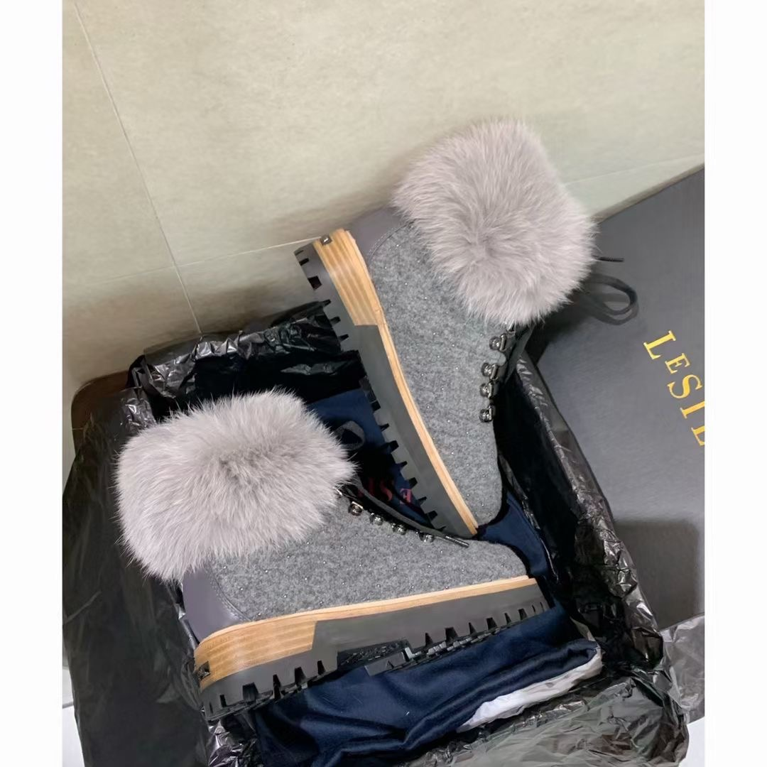 Le Silla Роскошные зимние ботинки с кроличьим мехом