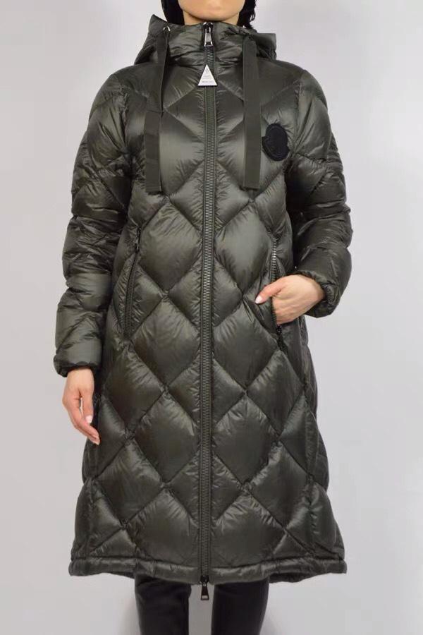 Moncler Зимний женский свободный длинный пуховик с капюшоном