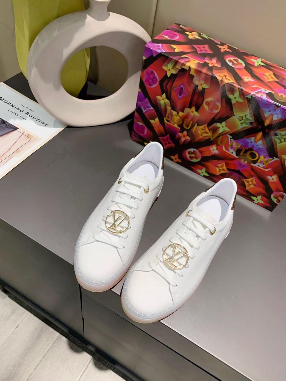 Louis Vuitton Кеды женские, белые, натуральная телячья кожа