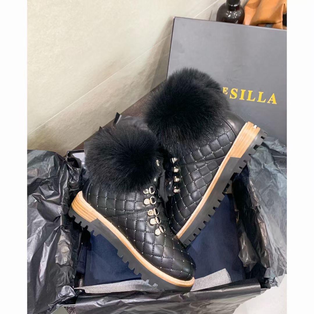 Le Silla Роскошные зимние ботинки, натуральная кожа, мех
