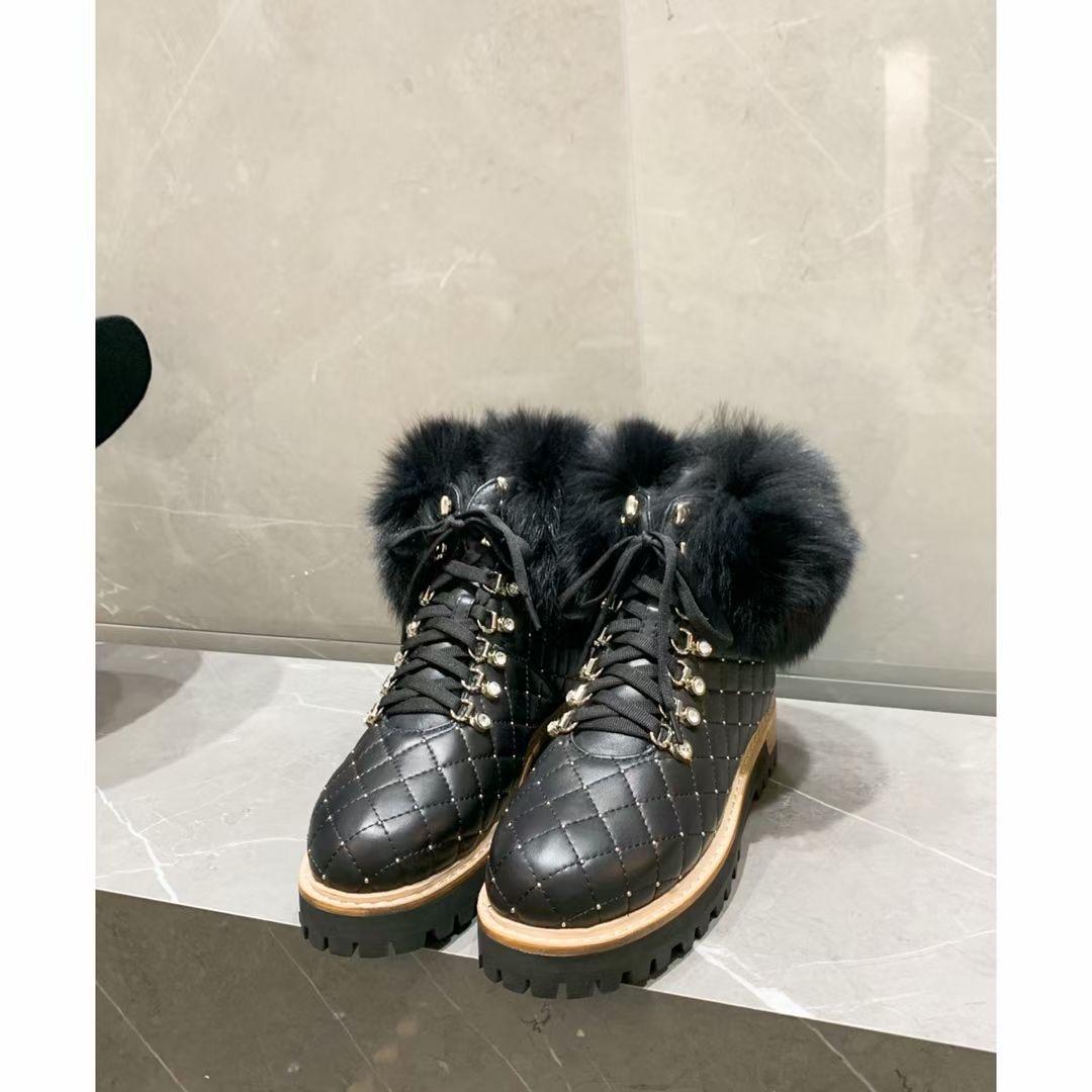 Фото Роскошные зимние ботинки, натуральная кожа, мех - ukrfashion.com.ua