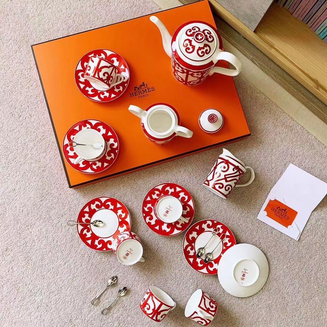 Hermes Чайный набор из 15 элементов (фарфор)