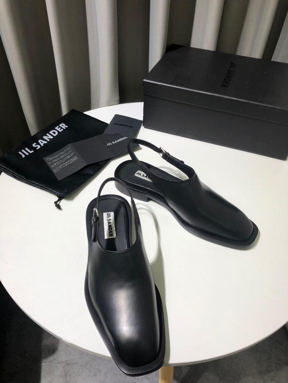 JIL SANDER Туфли женские, натуральная кожа, цвет черный