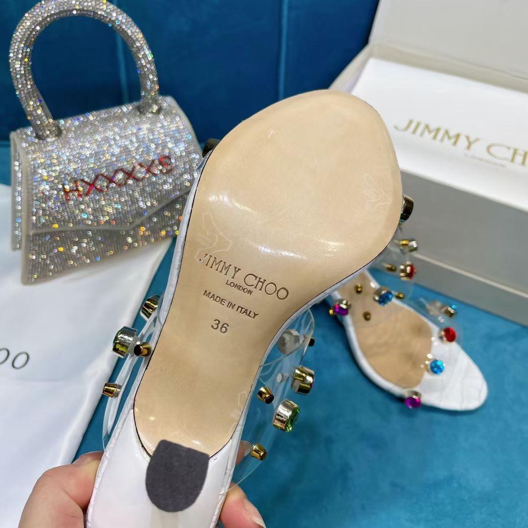 Jimmy Choo Супер стильные босоножки, белые