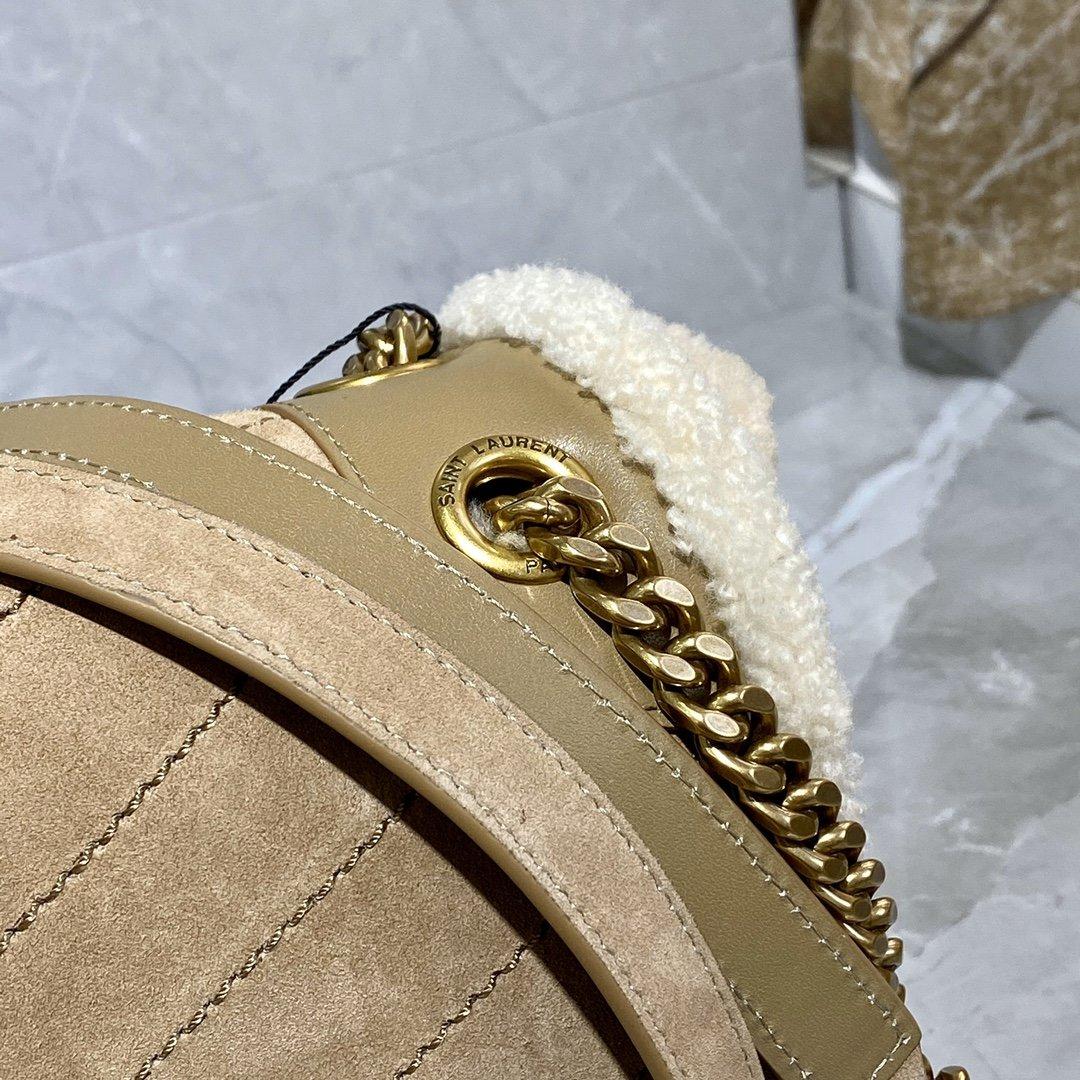 Saint Laurent Замшевая сумка