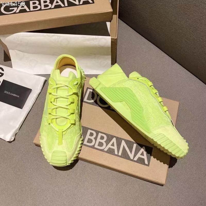 Dolce & Gabbana Кроссовки женские, цвет салатовый