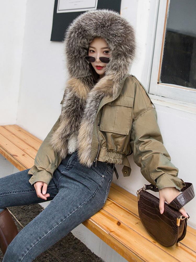 UkrFashion Куртка зимняя с мехом лисы