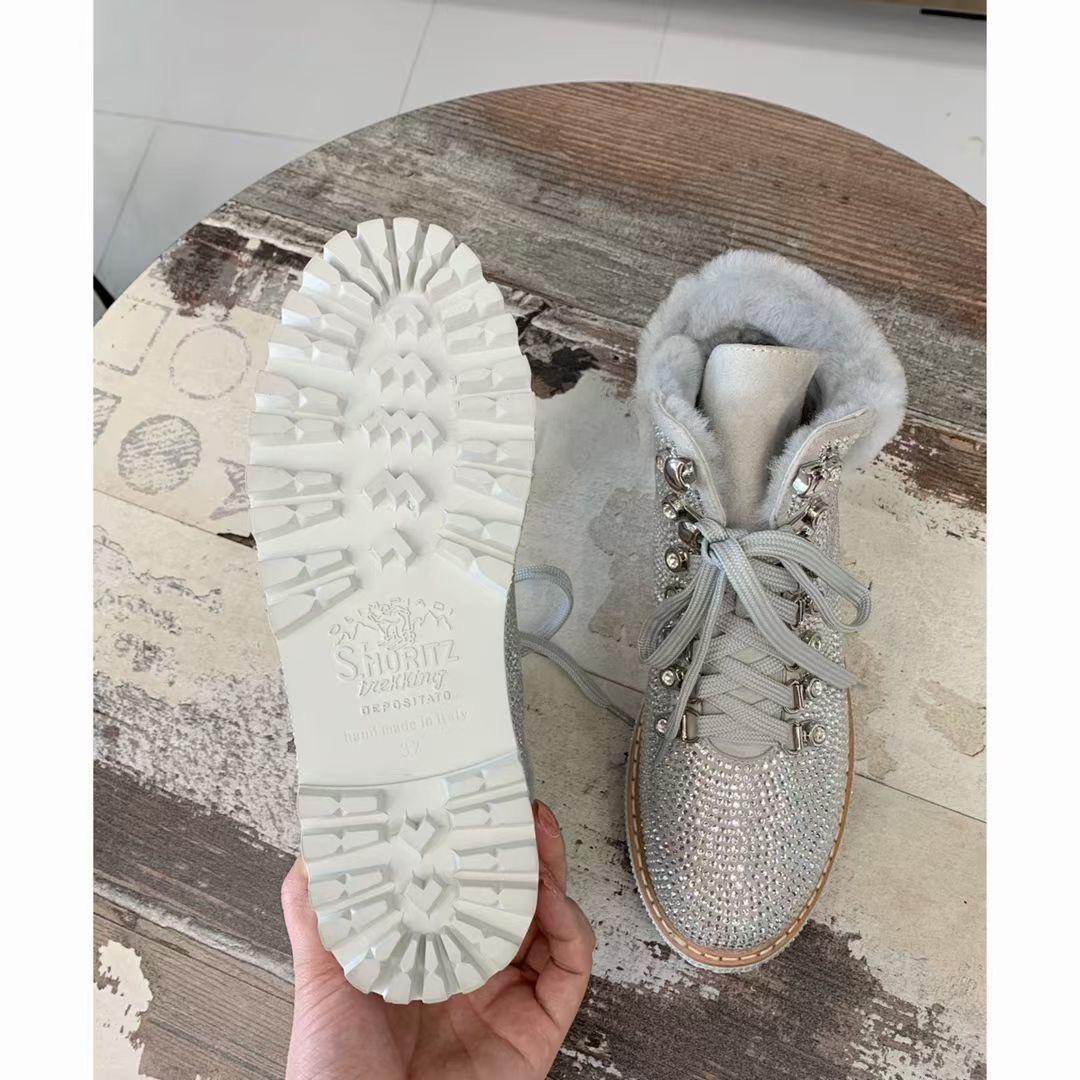 Le Silla Роскошные зимние ботинки, натуральная кожа, мех, камни Сваровски