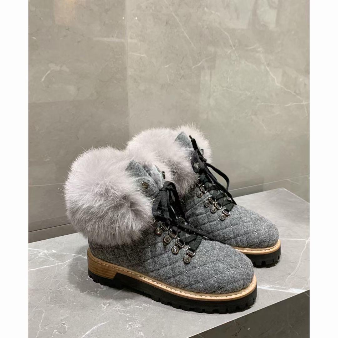 Фото Роскошные зимние ботинки с кроличьим мехом - ukrfashion.com.ua
