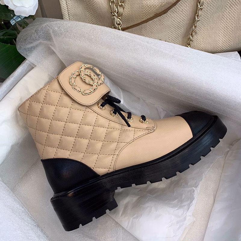Chanel Зимние женские кожаные ботинки