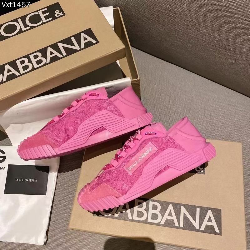 Dolce & Gabbana Кроссовки женские, цвет розовый