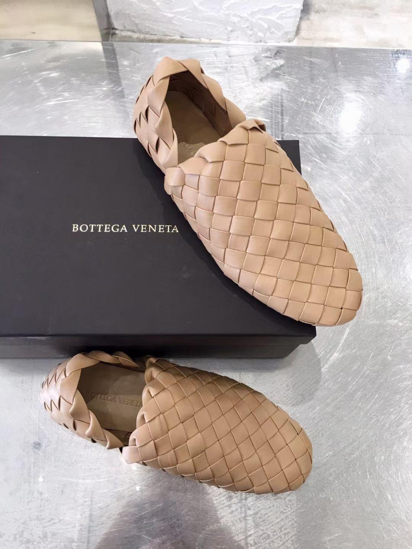 Bottega Veneta Плетеные мокасины из телячьей кожи