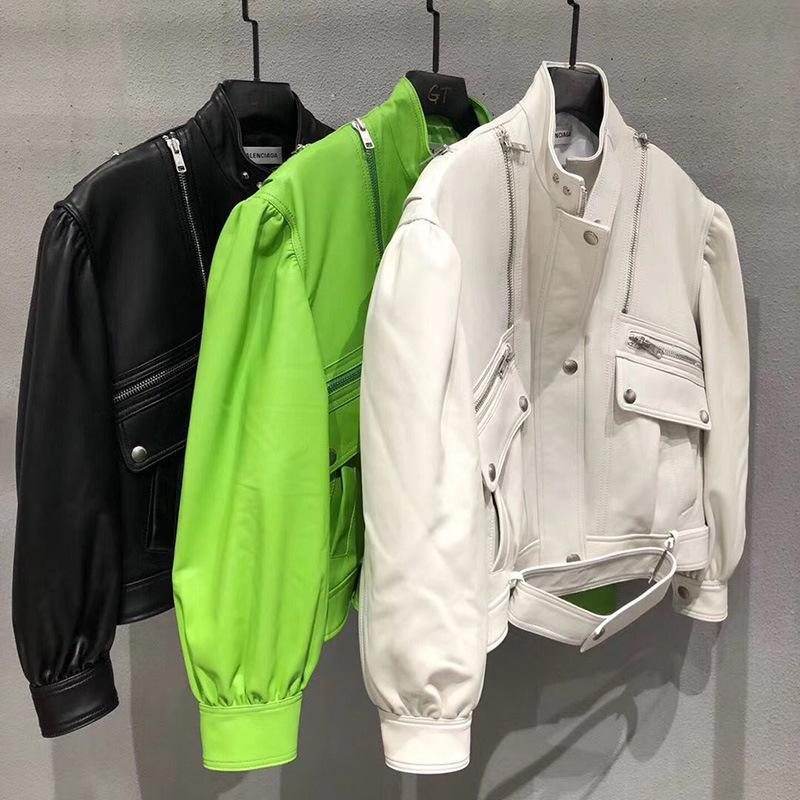 Balenciaga Куртка из натуральной овечьей кожи