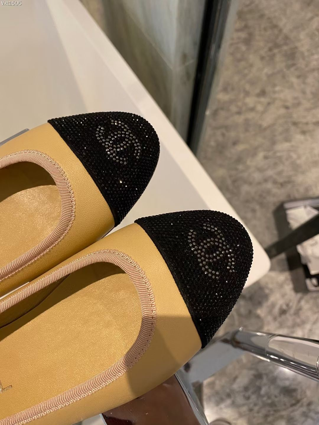Chanel Балетки натуральная кожа