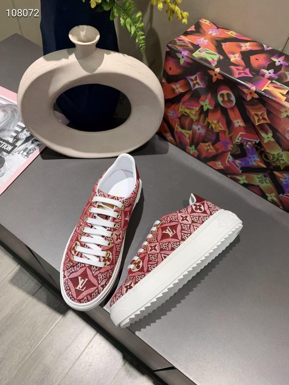 Louis Vuitton Кеды женские красные