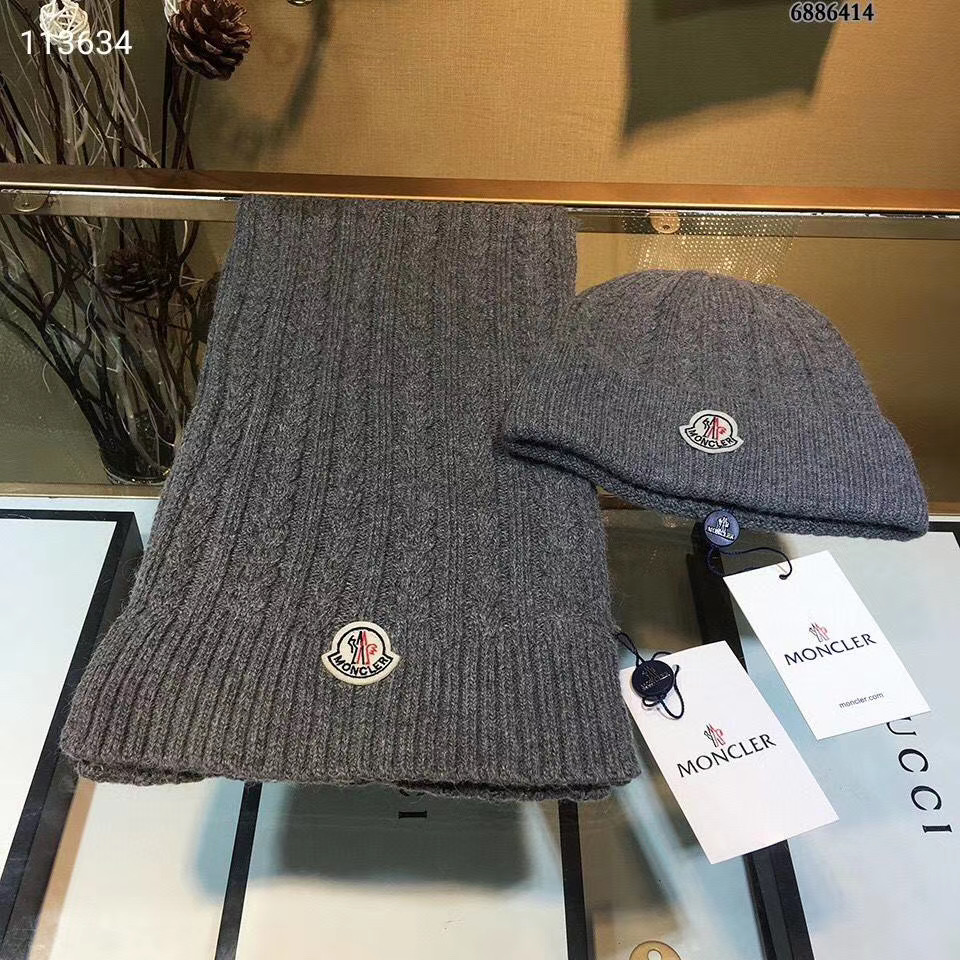 Moncler Шапка + шарф