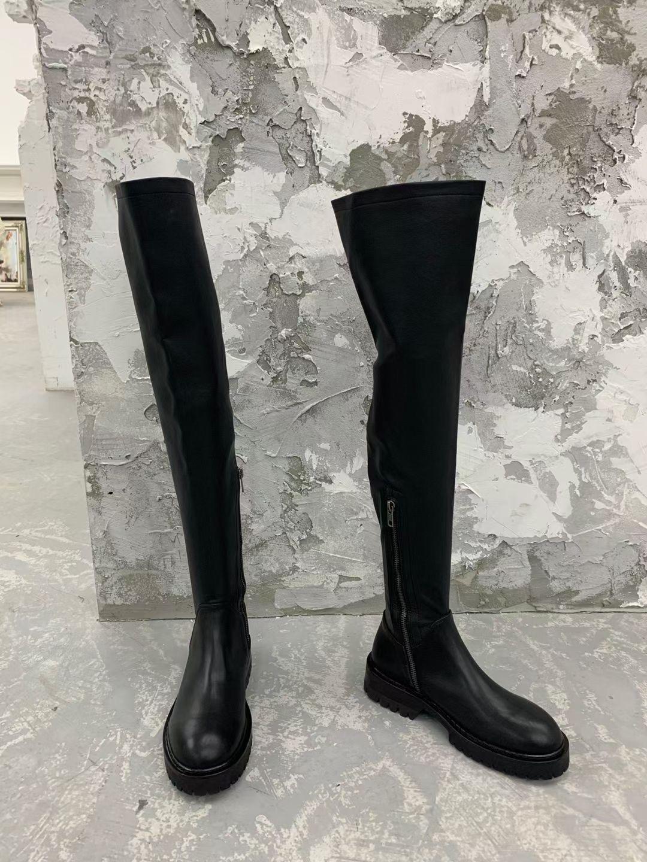 Ann Demeulemeester Кожаные сапоги выше колена