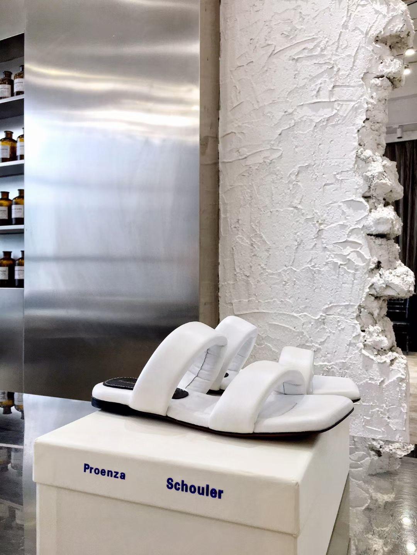 Proenza Ультрамодные женские сандалии, цвет белый